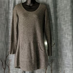 Cynthia Rowley 100% Cashmere Gray Tunic Sweater